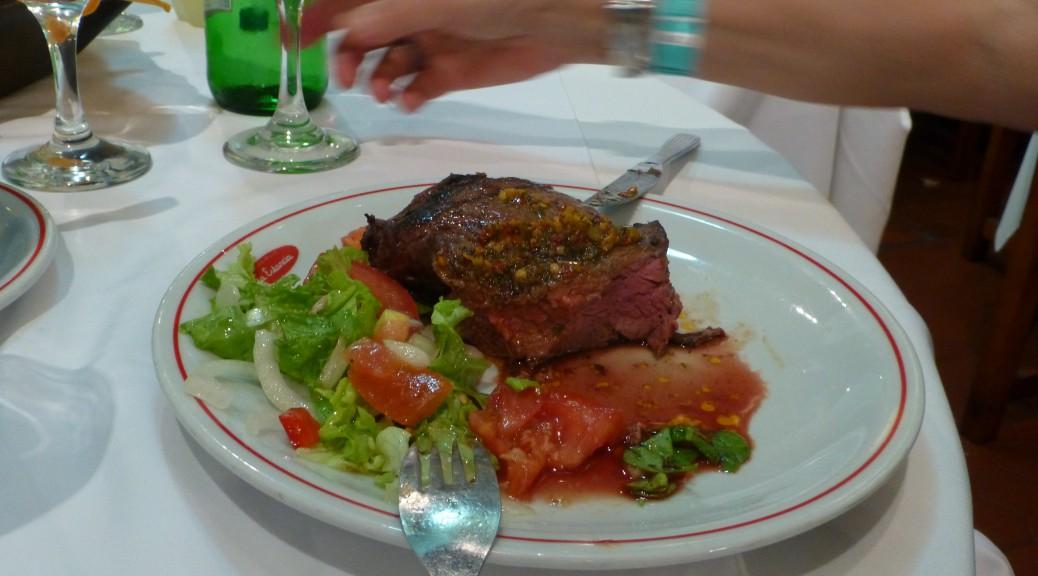 So sieht ein Chorizo-Steack aus. Guten Appetit!