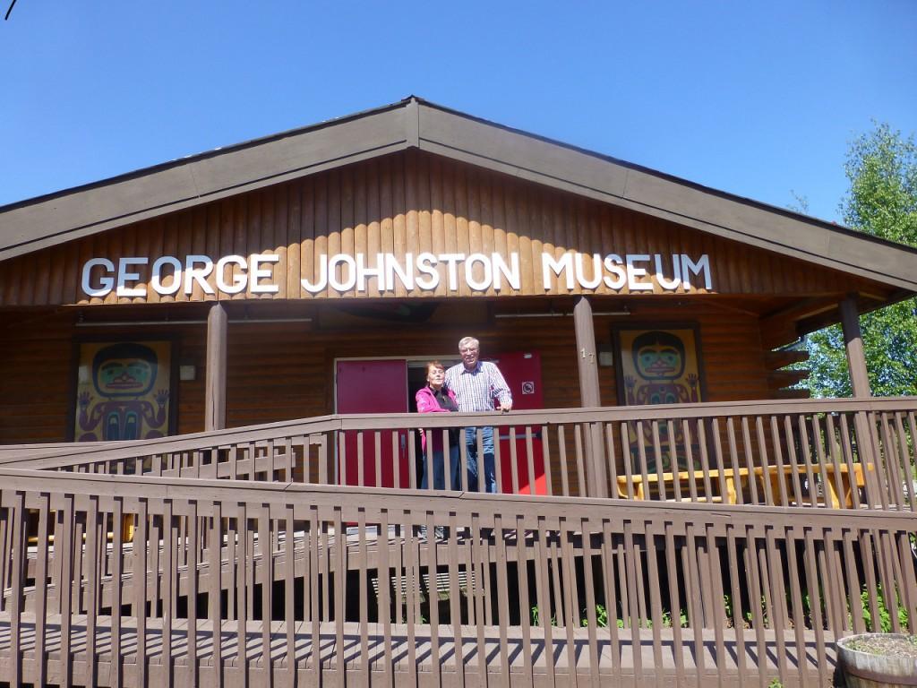 Teslin - George Johnston Museum, hat uns hineingelassen obwohl es erst am 1. Juni oeffnet.