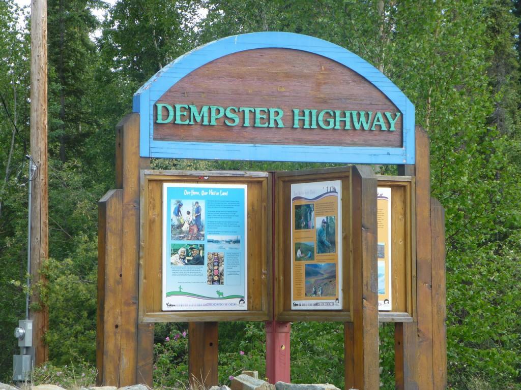 """1472 km bis wir zurueck sind vom """"Dempster"""""""