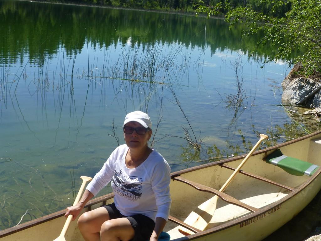 Auch Canoe sind wir gefahren.