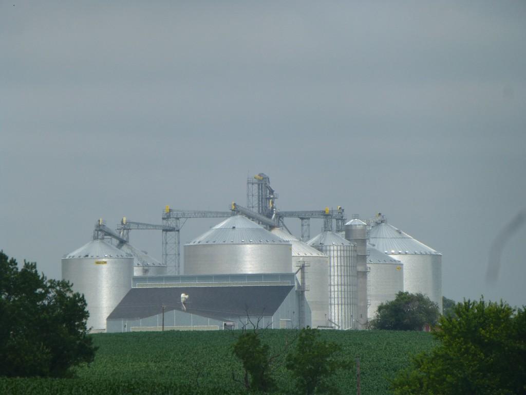 Moderne Landwirtschaft auf dem Wege nach Madison.