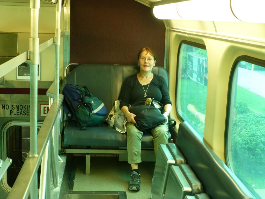 Mit der Metra faehrt man zur Union Station.