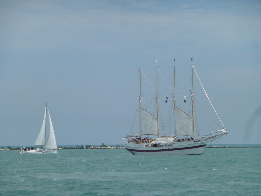 Seit 1959 ist Chicago auch Ueberseehafen, nachdem der St. Lawrence Kanal Fertigestellt war.
