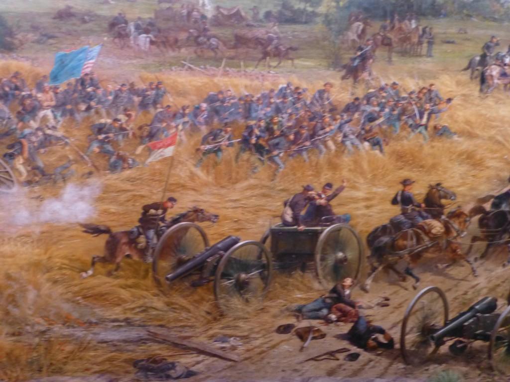 ...eine Szene aus dem grossen vaterländischen Krieg 1861-63. Gettysburg