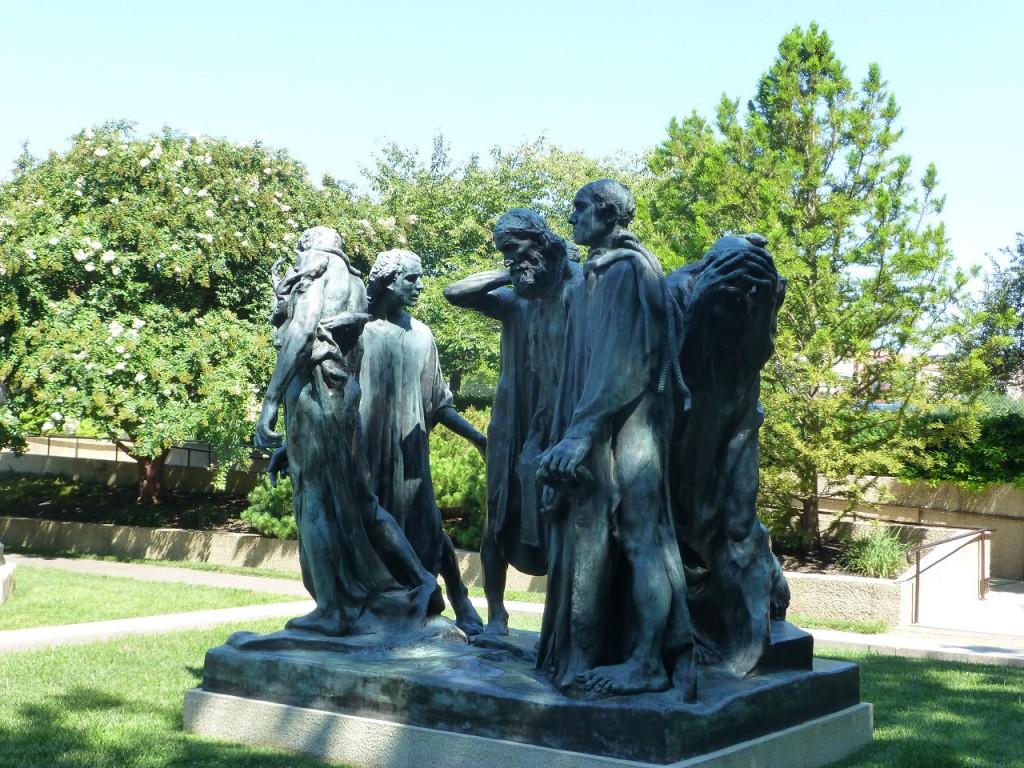 Die Bürger von Calais vo Auguste Rodin, weiter von Matisse, Moore etc.